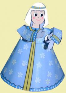 Marie paper toy pour la créche deNoël