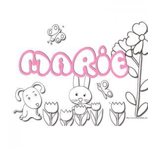 coloriage prénom Marie