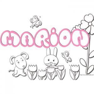 coloriage prénom Marion