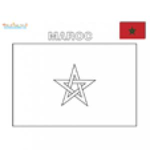 Coloriage du drapeau du Maroc