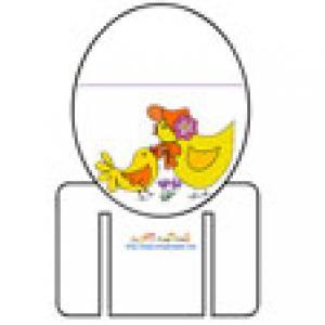 Marque verre avec une poule et son poussin