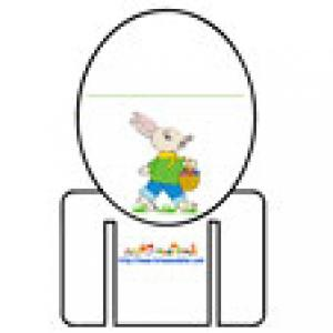 Marque verre décoré du lapin de Pâques