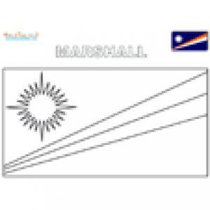 Coloriage du drapeau des Marshall