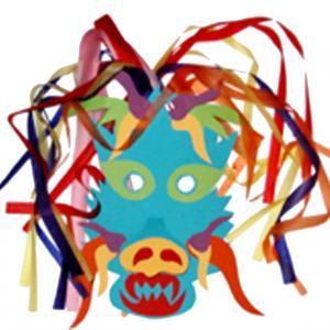 Masque de dragon chinois