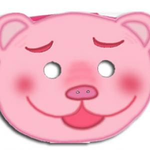 Masque cochon à imprimer