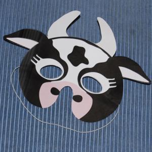 Ce masque de vache viendra parfaitement compléter un déguisement. Le masque de vache à colorier ou à coller est facile à réaliser pour le carnaval , pour les anniversaires ou pour toutes au