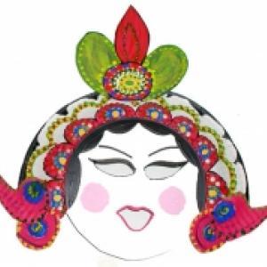Explications pour réaliser un masque de l'opéra chinois fille