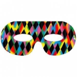 Masque d'Arlequin en carte à gratter