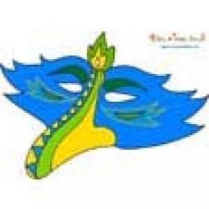 Masque Bec d'oiseau bleu modèle simple