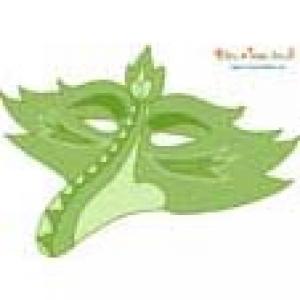 Masque oiseau à bec en vert