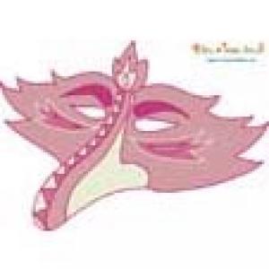 Masque oiseau à gros bec vieux rose