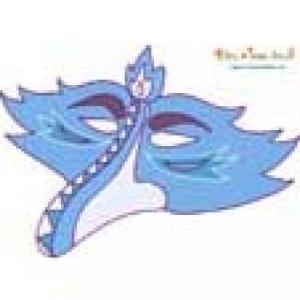 Masque oiseau bleu vintage