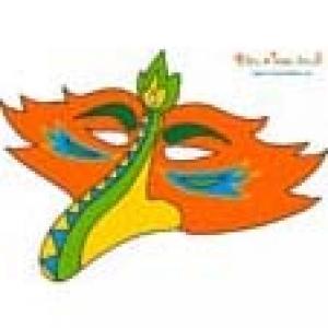 Masque bec d'oiseau orange