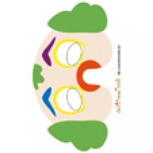 Imprimer le modèle du masque de clown
