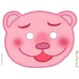 Paper toy masque tête de cochon