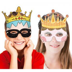 Coloriage de masques couronne