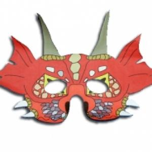 Masque de dragon rouge