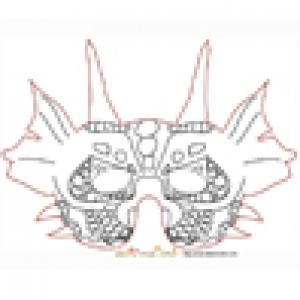 Imprimer le modèle du masque de dragon