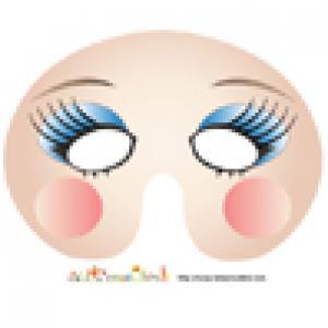 Masque de fille aux paupières bleues à imprimer
