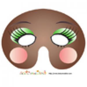 Masque de fille aux paupières vertes