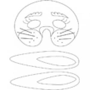 Imprimer le modèle du masque de lapin à colorier