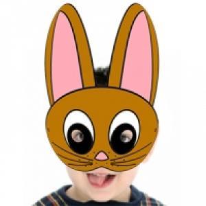 Masque de lapin fauve à imprimer