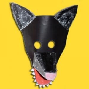 Un masque de loup en 3D