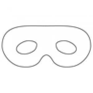 Masque aux grands yeux : imprimer le gabarit