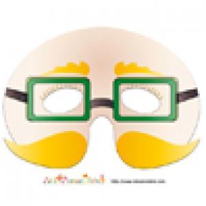 modèle du masque de monsieur aux lunettes vertes et moustaches blondes
