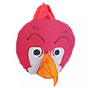 Masque oiseau à la tête rouge
