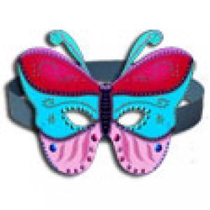 Masque papillon 3 couleurs décoration en relief