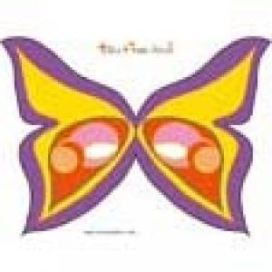 Masque de papilon violet à grandes ailes