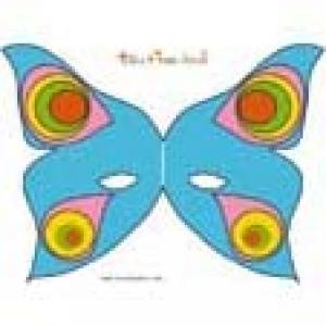 Masque de papilon bleu à grandes à imprimer
