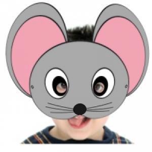 Un masque de lapin blanc aux oreilles roses à imprimer pour le déguisement des enfants. Le masque de lapin blanc est prêt à être imprimé pour une réalisation rapide du masque.