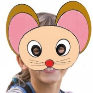 Masque de souris à colorier