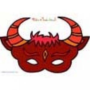 Paper toy : Masque de taureau rouge