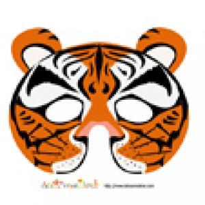 modèle du masque de tigre