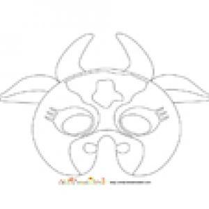 Imprimer le modèle du masque de vache à colorier