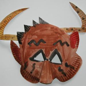 masque de taureau &agrave à fabriquer pour le carnaval