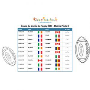 Poule D de finale de la coupe du monde de rugby