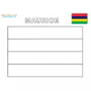 Coloriage du drapeau de l'ïle Maurice