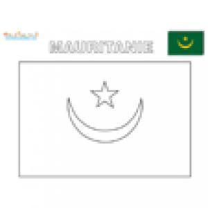 Coloriage du drapeau de la Mauritanie