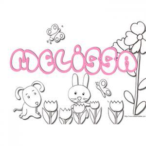 coloriage prénom Melissa
