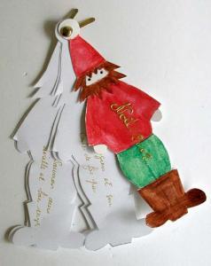 Menu de réveillon ou Noël en forme de lutin