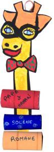 Porte-messages girafe pour toute la famille