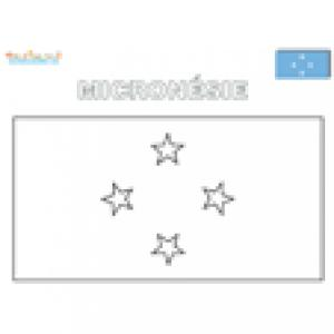 Coloriage du drapeau micronésie