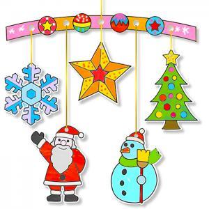 Mobiles de Noël à colorier
