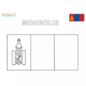 Coloriage du drapeau de la Mongolie