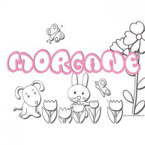 coloriage prénom Morgane
