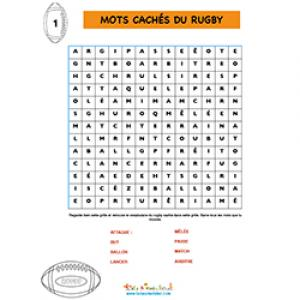 Mots cachés du rugby 1